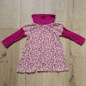 (3/$15) Tea Collection Floral Turtleneck Tunic Top